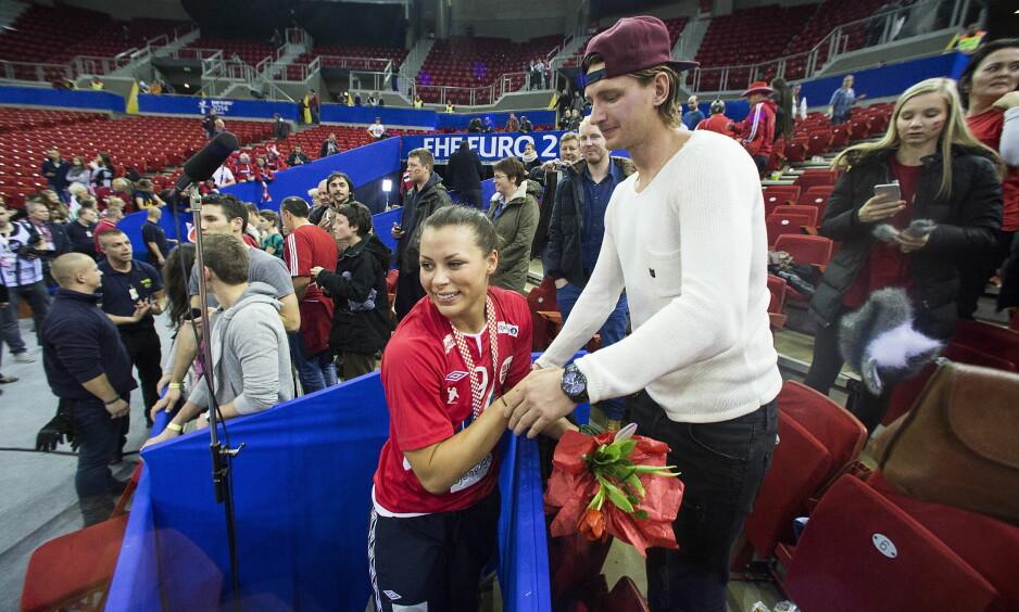 PAR: Stefan Strandberg og Nora Mørk har vært kjærester i mange år. De dyrker hver sin toppidrettskarriere. Foto: Bjørn Langsem
