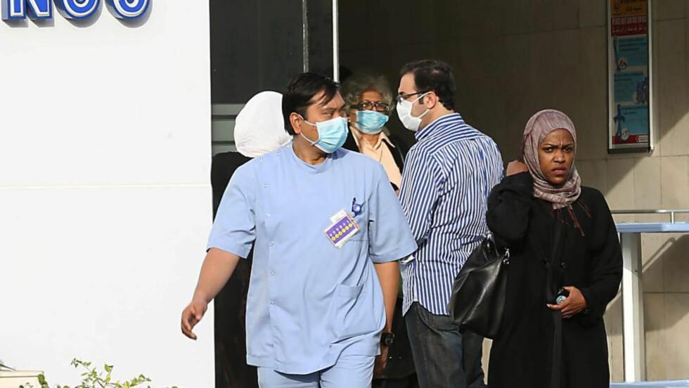 FRYKT: Mers-utbruddet skaper nå frykt, og rammer helsearbeidere ekstra hardt. Her ved Kong Fahd sykehuset måtte sjefen for hematoligiavdelingen gi tapt mot sykdommen. Foto: AFP/NTB Scanpix