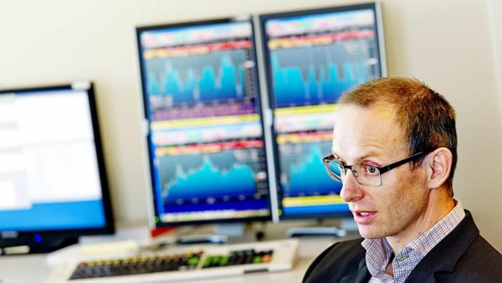 BØRS: Haakon Børs Lind i Intelligent Trading. Foto: Ivan Kverme / Finansavisen