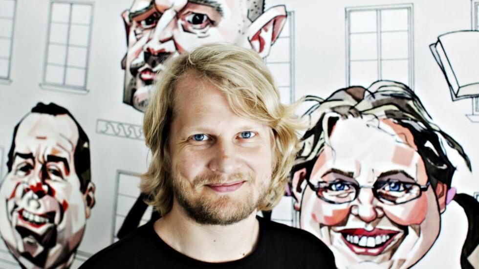 GJØR LITTERATUR SYNLIG: Leder for Fritt Ords kulturinstitusjon Litteraturhuset, Aslak Sira Myhre, kan tenke seg nye utfordringer. Nina Hansen / Dagbladet