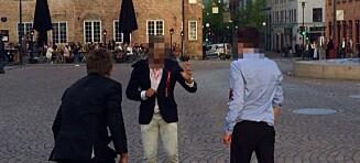 Her angripes en mann midt under 17. mai-festen i Oslo