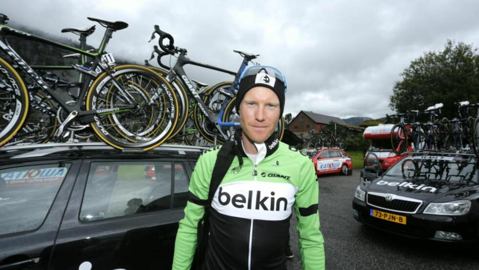 KLAR FOR TOUR: Lars Petter Nordhaug er den norske syklisten som landslagssjef Stig Kristiansen mener har størst vinnersjanse i Tour og Norway, som starter i morgen. Foto: Tor Erik Schrøder / NTB Scanpix
