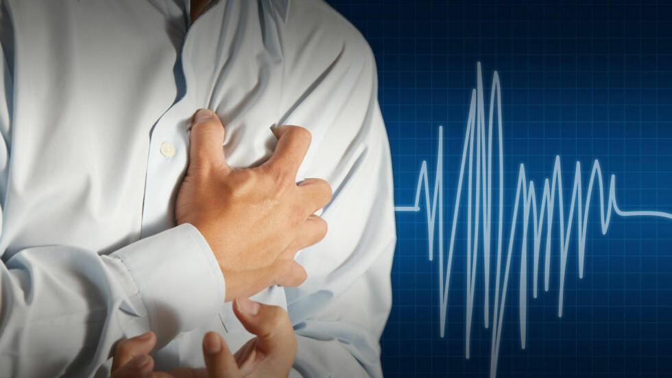 FLERE ÅRSAKER: Depresjon og livsstil kan påvirke risikoen for hjertesvikt viser ny forskning. Foto: COLOURBOX