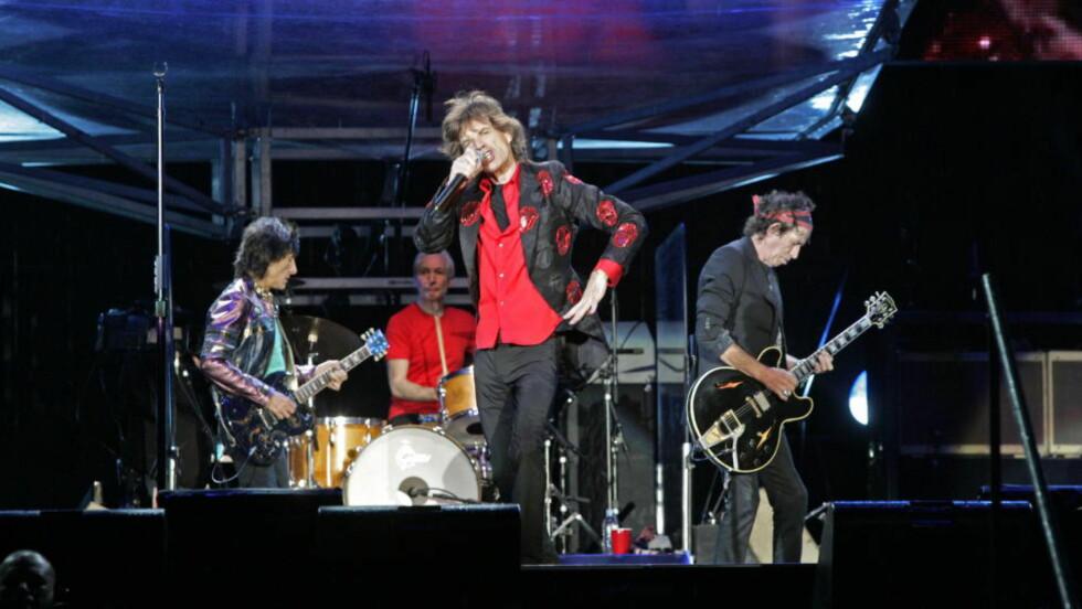 MOVES LIKE JAGGER: Mick Jagger er ikke akkurat kjent for å stå rolig på scenen - og nå har han fått myket opp i ledd og muskler - og fått dansetrinnene på plass. Foto: Oddmund Lunde
