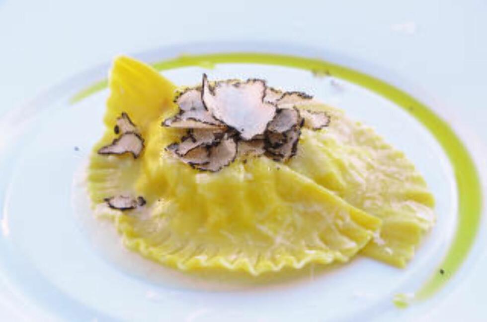 DELIKATESSE: Istria er kjent for sine trøfler. Og restauranten Zigante i Livade vet å servere dem så alle sanser får sitt. Foto: MARTE VEIMO