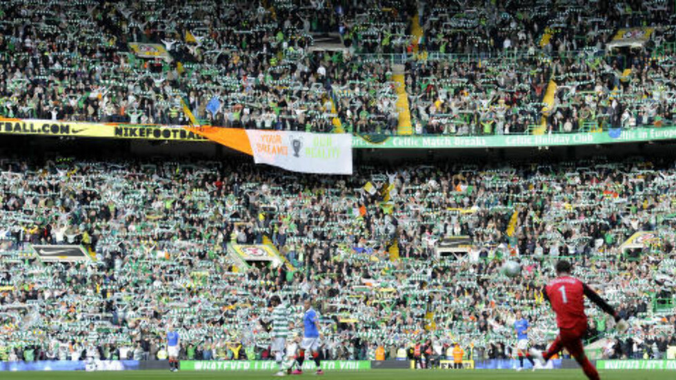 <strong> MEKTIG:</strong>  Cetics hjemmebane, Celtic Park, har en kapasitet på over 60 000. - Det er en av stadionene med best liv i verden, sier Vidar RIseth.Foto: NTB Scanpix