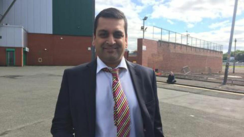TV-PERSONLIGHET: Raman Bhardwaj dekker Deilas utnevnesle for TV-kanalen STV i Skottland. Foto: Fredrik Ø. Sandberg