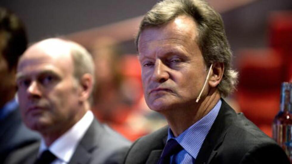 TELENOR: Telenors konsernsjef Jon Fredrik Baksaas tjente 14,8 millioner kroner i fjor (inkludert pensjonsrettigheter). Staten er majoritetseier i Telenor. Foto: Øistein Norum Monsen / Dagbladet