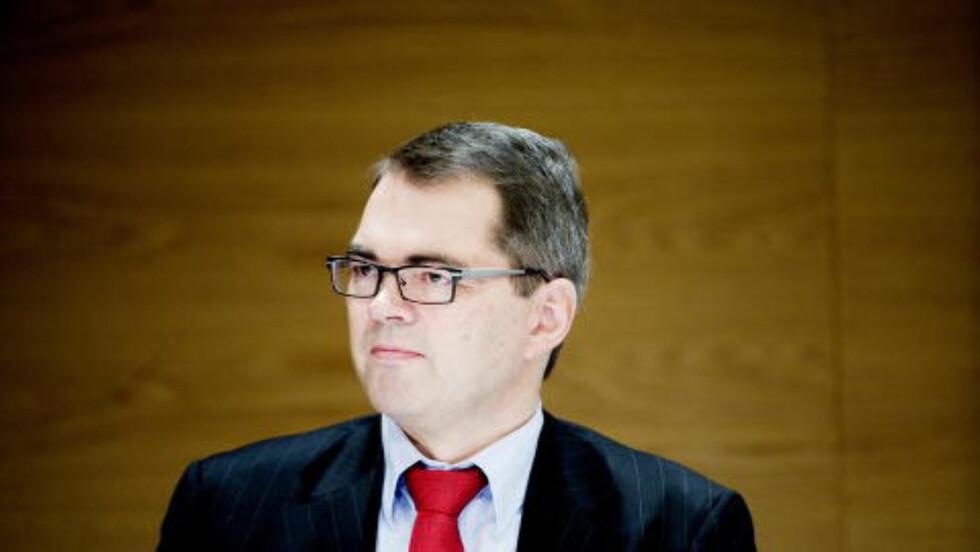 NORSK HYDRO:  Konsernsjef Svein Richard Brandtzæg i Norsk Hydro fikk 9,6 millioner kroner i lønn og bonus i fjor. Staten er deleier Norsk Hydro (43,8 prosent) Foto: Siv Johannen Seglem/Dagbladet
