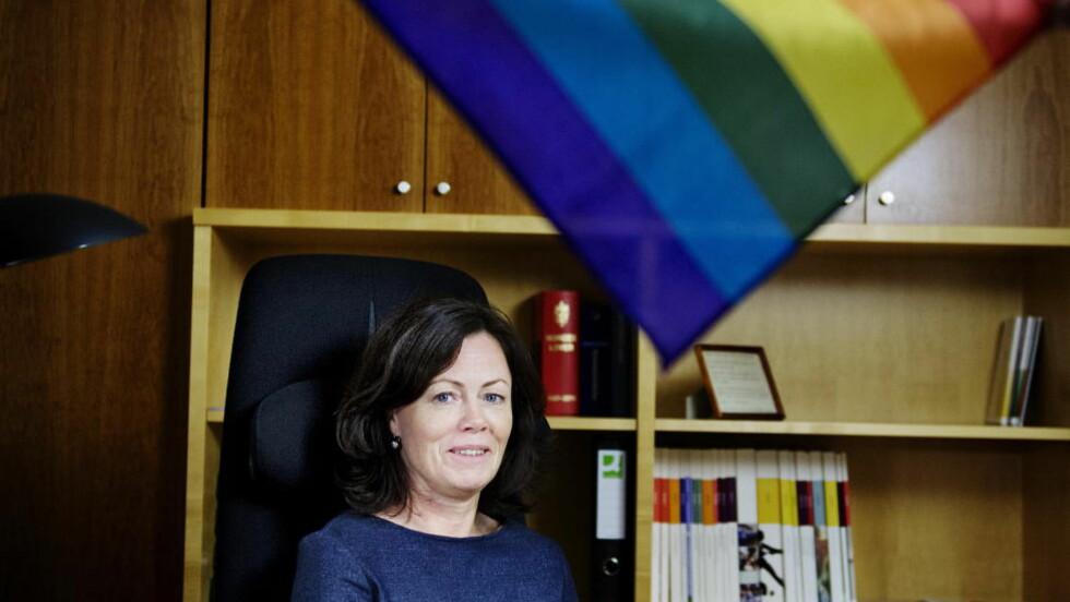 STATSFEMINIST:  Som likestillingsminister representerer Solveig Horne (FrP) alle farger. Foto: Benjamin A. Ward / Dagbladet