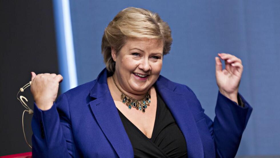 1,5 MILLIONER: Statsministerlønna til Erna Solberg (H) har passert 1,5 millioner kroner. Foto: Torbjørn Berg / Dagbladet