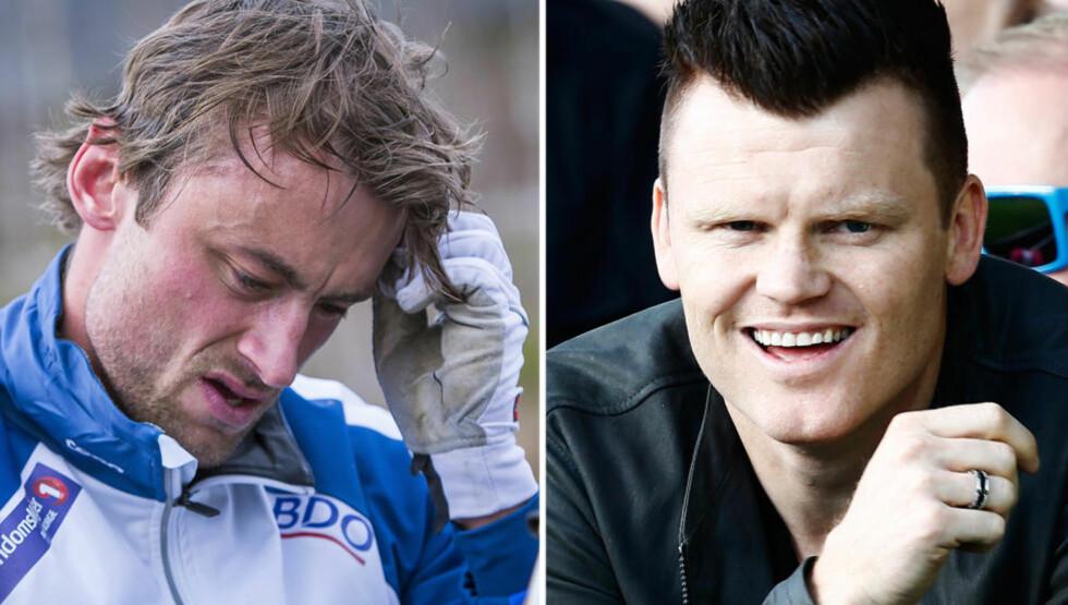 KAMERATER:  John Arne Riise (t.h.) støtter Petter Northug i den tøffe tida. Blir han dømt for fyllekjøring, risikerer han fengsel. Foto: Ole Morten Melgård og NTB Scanpix