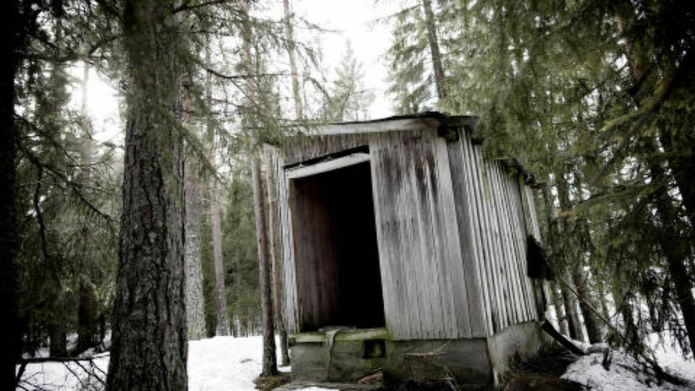 HER BLE ANNA DREPT: I dette skjulet ved Grønskjær skisenter i Telemark ble den 26 år gamle russiske kvinnen funnet drept. Foto: TOMM W. CHRISTIANSEN/DAGBLADET