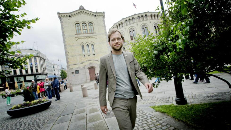 BLIR GJERNE MED PÅ Å VELTE ERNA: Men Audun Lysbakken vil se et Ap som tar et oppgjør med oljeavhengigheten. Foto: Anita Arntzen / Dagbladet.