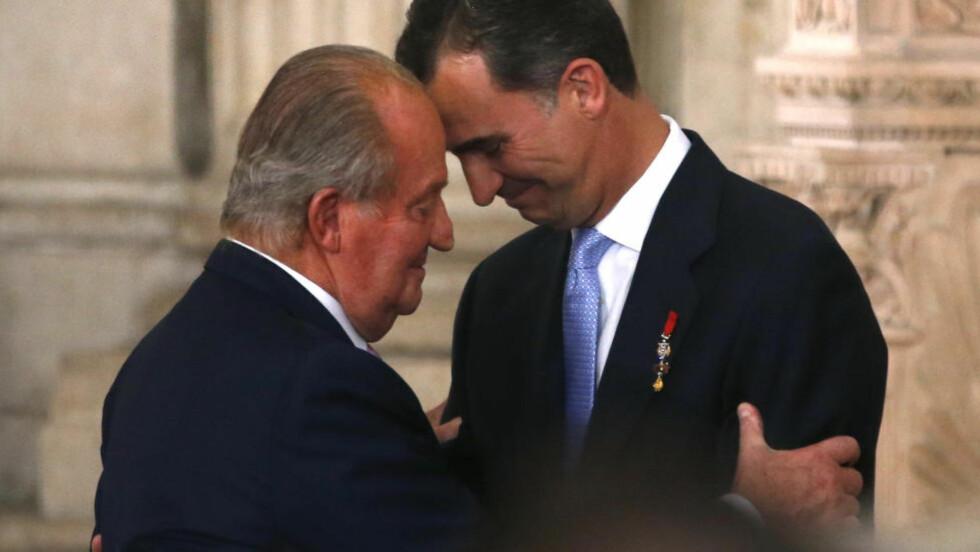 ABDISERTE: Juan Carlos har overlatt tronen til sin sønn Felipe. Foto: REUTERS / Juan Medina / NTB scanpix