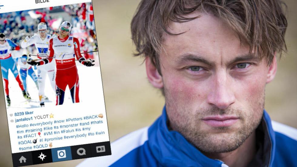 LOVER GULL: I et innlegg på Instagram lovet Petter Northug gull. Så slettet han innlegget. Foto: Morten Melgård/Dagbladet