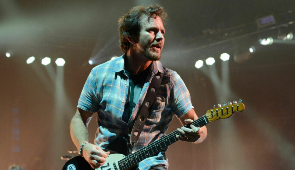 KLAR FOR OSLO: Eddie Vedder og Pearl Jam kommer til Telenor arena søndag 29. juni. Foto: Kevin Mazur / Getty Images / AFP / NTB Scanpix