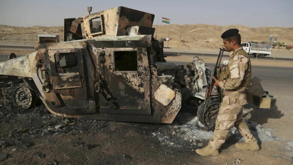21 DREPT: Sunniopprørere har drept 21 ledere i de irakiske byene Rawa og Ana de siste to dagene, opplyser offiserer og leger. Drapene har skjedd etter at irakiske sikkerhetsstyrker har trukket seg ut. Foto: REUTERS / Yahya Ahmad / NTB Scanpix
