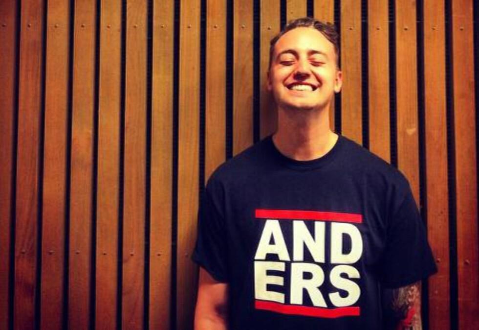 HÅPER PÅ SOMMERHIT: Hjernen bak «Salsa Tequila», Anders Nilsen (26) håper låta hans når VG-lista. Foto: Privat