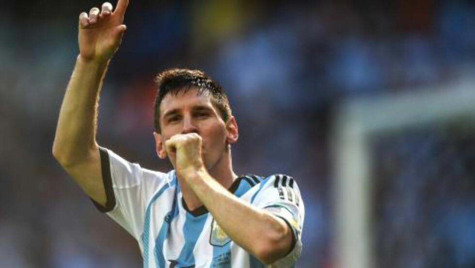 MATCHVINNEREN: Lionel Messi scoret da det så ut til å gå mot målløst i Belo Horizonte.Foto: AFP / GUSTAVO ANDRADE / NTB SCANPIX