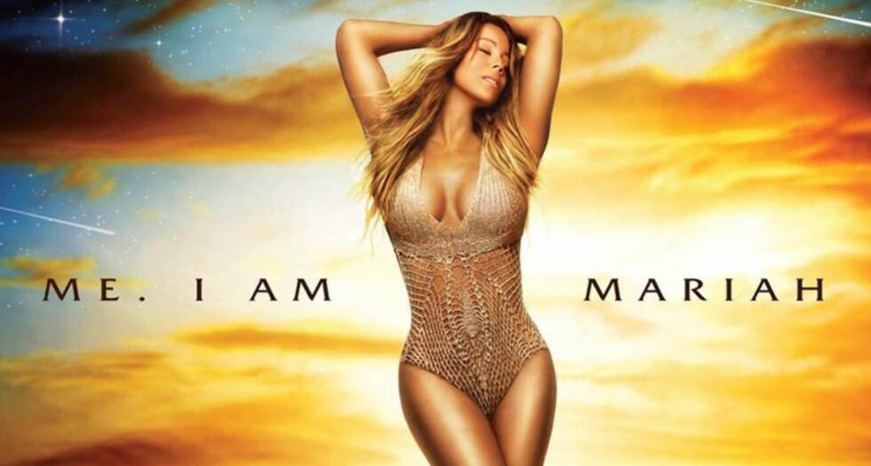 NYTT ALBUM: Mariah Carey innrømmer selv at presseteamet hennes brukte photoshop og la inn et nytt bilde av ansiktet hennes på album-coverbildet. Foto: Stella Pictures