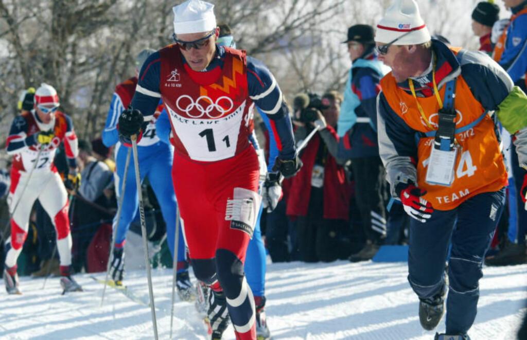 I OL: Anders Aukland, her under OL i 2002.  Foto: Erik Johansen / SCANPIX
