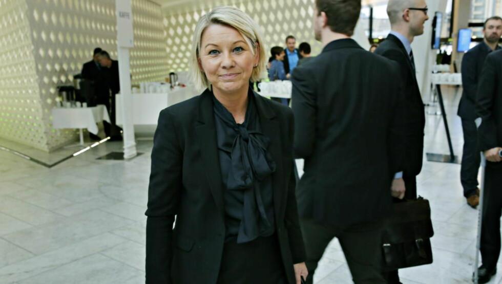 FRAMSNAKKING: Monica Mæland vil ha 50 prosent kvinnelige eiere, ledere og gründere, men vil ikke bruke tvang overfor næringslivet. Framsnakking er grepet. Foto: Jacques Hvistendahl / Dagbladet.