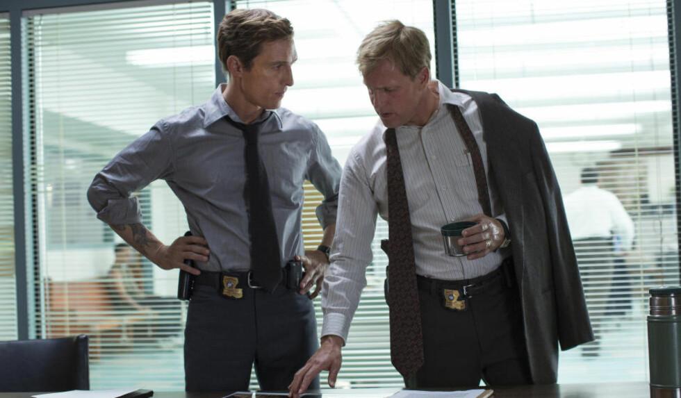FORSVINNER FRA SERIEN: Uansett hvilken skjebne som venter Rust Cohle (Matthew McCounaghey) og Martin Hart (Woody Harrelson) i siste episode av «True Detective» er sesongslutten også enden på visa for de to populære rollefigurene.