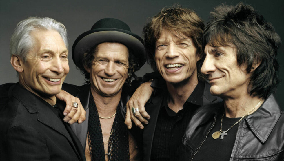 AVLYSER: Charlie Watts, Keith Richards, Mick Jagger og Ron Wood i Rolling Stones utsetter konserter i Australia og New Zealand. Foto: NTB Scanpix