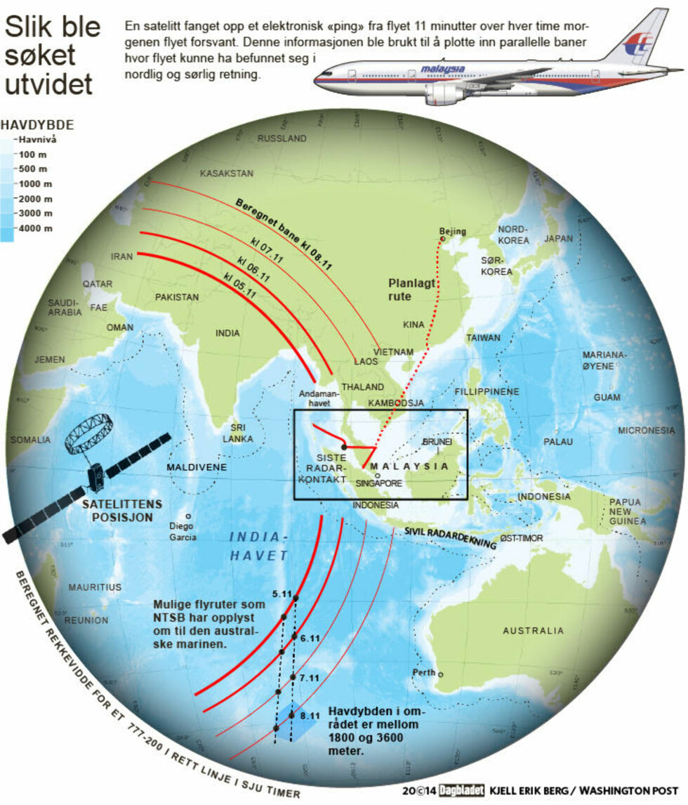 Norsk skip leter etter mulige flyrester etter MH370 nå