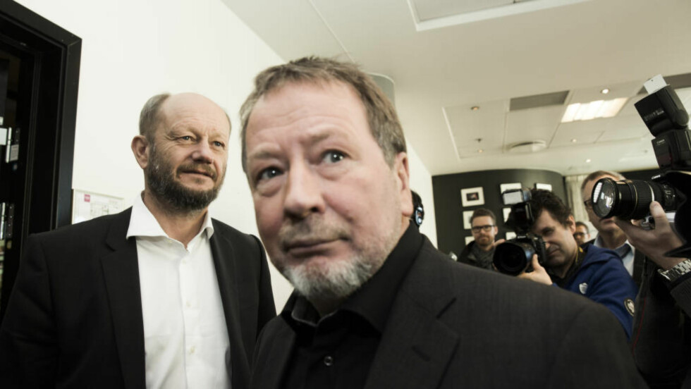 I NATT: Leder i Norsk industri Stein Lier Hansen (t.v.) og leder i fellesforbundet Arve Bakke må bli enige i natt. Ellers blir det streik. Først den ene, så den andre. Foto:     Foto: Berit Roald / NTB scanpix