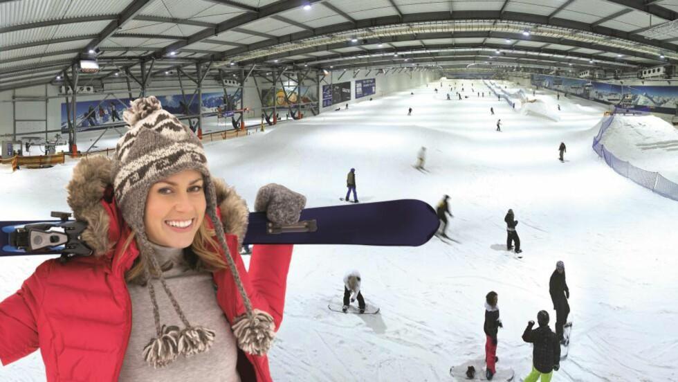 SNØ HELE ÅRET: Snow-Dome i Bispingen har en 300 meter lang bakke for å kjøre slalåm. Foto: BISPINGEN TOURISTIK/SNOW-DOME