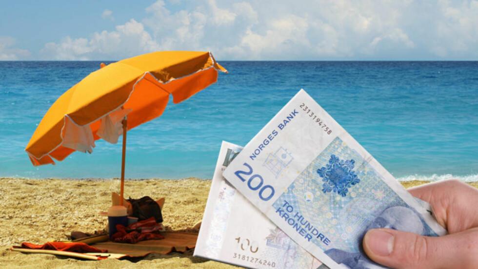 FERIE? Ferieloven gir deg rett til ferie, men hvor mye feriepenger du får utbetalt, avhenger av lønna di i fjor. Foto: COLOURBOX