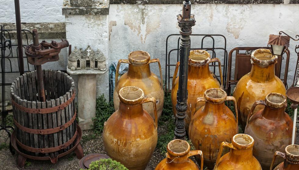 Steinete: I dag slippes det vin som er gjæret og modnet i amfora leirkrukker. Tradisjonen er fra Georgia, og er 8000 år gammel. Foto: NTB Scanpix