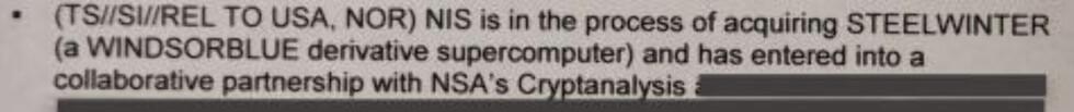 NIS aquires supercomputer
