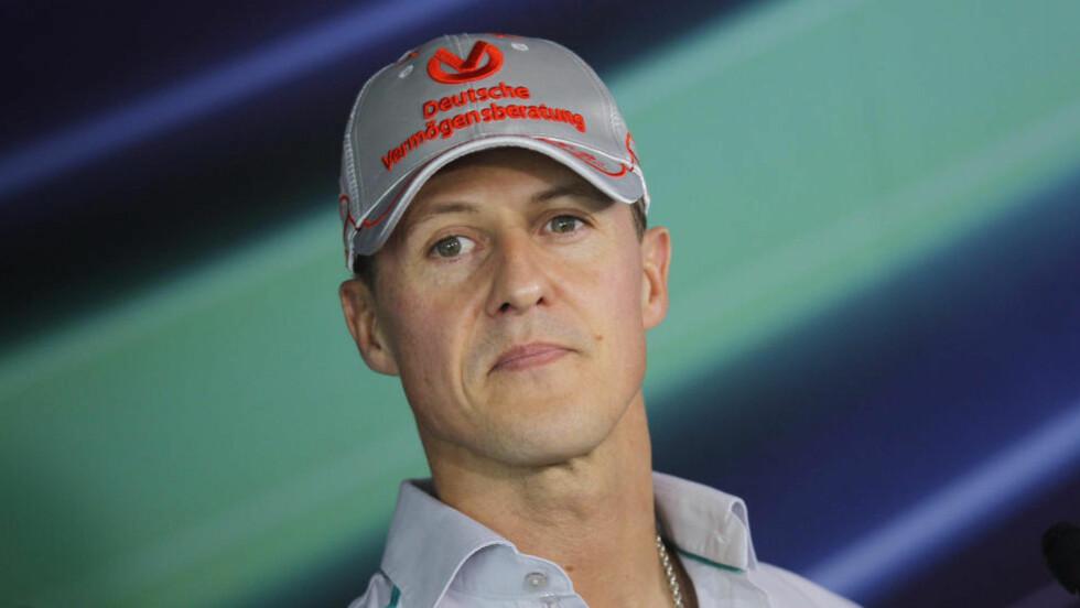 SKADD I SKIULYKKE: Formel 1-legenden Michael Schumacher er alvorlig skadd etter en ulykke i Frankrike. Foto: AP Photo/Saurabh Das/NTB Scanpix