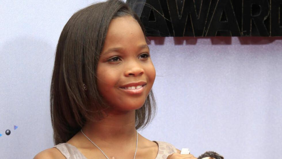 TALENT: 10 år gamle Quvenzhane Wallis er en ny stjerne på Hollywood-himmelen. Hun er den yngste noensinne til å bli nominert til Oscar-prisen for beste kvinnelige skuespiller, og har en grunnlønn på 4,6 millioner for sin kommende film. Foto: Stella Pictures