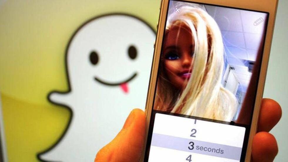 SIKKERHETSFEIL: Det er ikke første gang det avdekkes sikkerhetsfeil ved den populære appen Snapchat. Nylig klarte hackere å få tak i telefonnummerene til 4,6 millioner brukere av appen. Foto: KIRSTI ØSTVANG