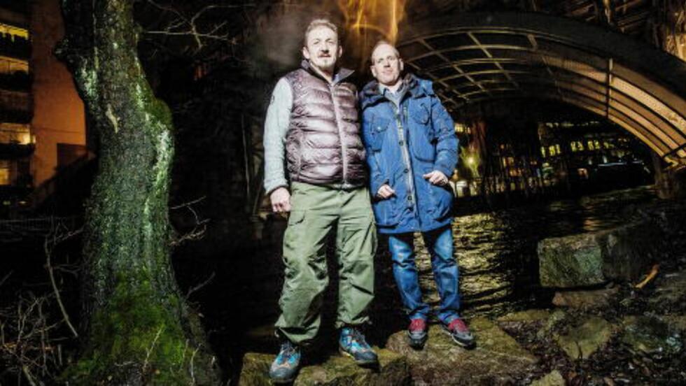 TØFFE KARER: Spesialsoldatene Rune Gjeldnes og Ronny Bratli understreker at det er umulig å gjenskape flukten og at de ikke utsatte seg for fare. I Lyngalpene er også snøskred en faktor man må regne med. Tv-dokumentarserienm starter på NRK onsdag. Foto: Thomas Rasmus Skaug / Dagbladet