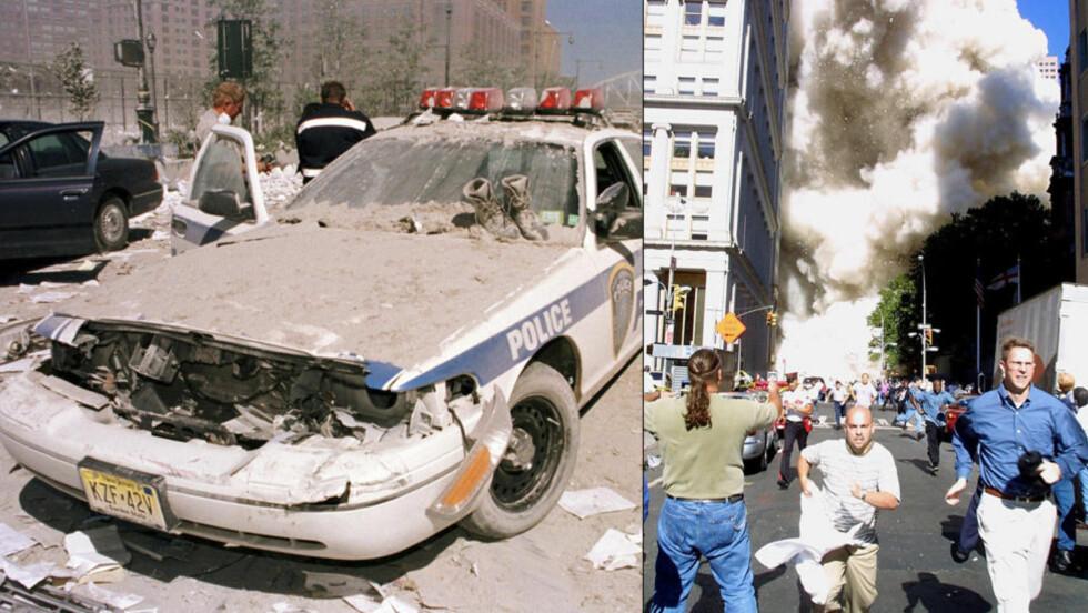 BRUKTE 11. SEPTEMBER: 106 personer er tiltalt i en massiv svindelsak der mange av de tiltalte er politifolk og brannmenn som skal ha brukt hendelsene 11. september 2001 som årsak til å urettmessig heve uføretrygd. Foto: Reuters/AFP Photo/Doug Kanter/NTB Scanpix