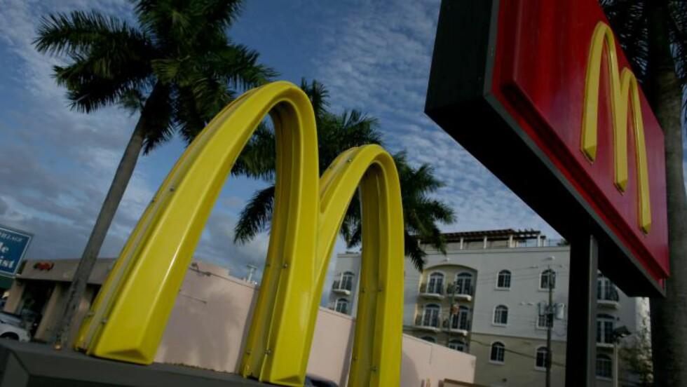 POPULÆR: McDonald's er en av verdens største restaurantkjeder. Foto: Joe Raedle/Getty Images/AFP