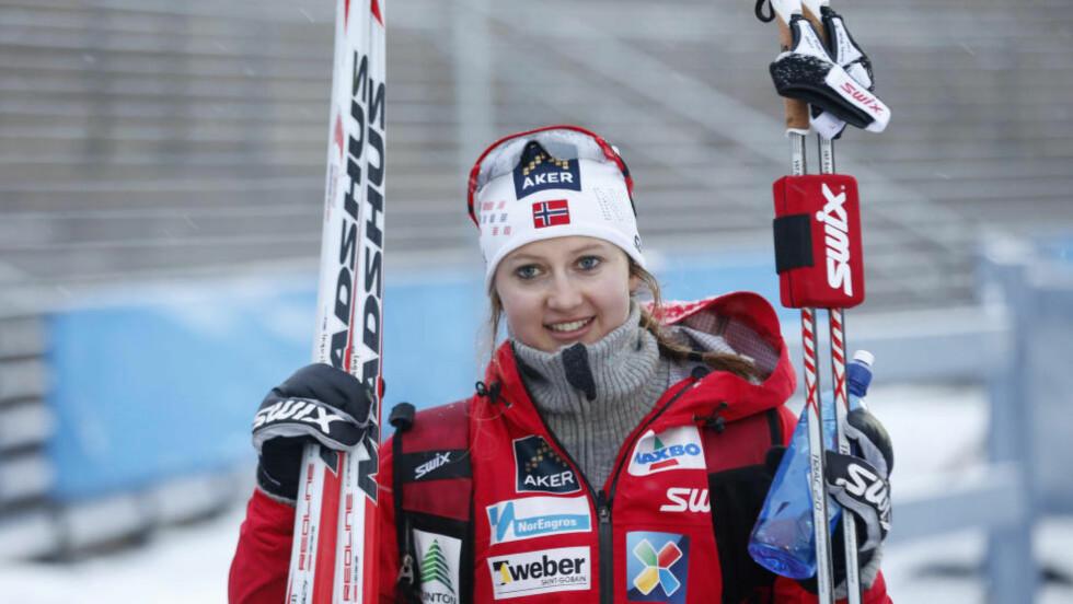 PALLEN:  Ingvild Flugstad Østberg ble beste norske sprinter med sin tredjeplass i fristil i Nove Mesto. Foto: Terje Bendiksby / NTB scanpix