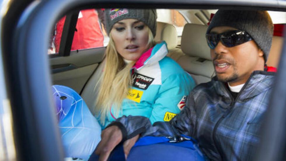 STJERNEPAR: Lindsey Vonn og Tiger Woods. Foto: AP Photo/Keystone,Jean-Christophe Bott