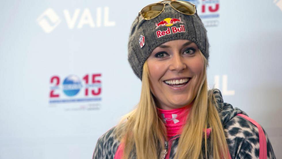 FÅR REFS:  Lindsey Vonn mister OL på grunn av skade og får kritikk i USA for at hun ikke har stilt opp og uttalt seg etter at alpintstjernen måtte trekke seg. Foto: AP Photo/Nathan Bilow