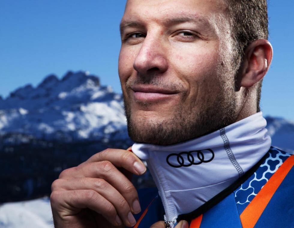 OL-HÅP: Å kaste seg utfor stupbratte fjell er ikke noe problem. Aksel Lund Svindal (31) er mer redd for bilkjøring og fulle damer. Foto: LARS MYHREN HOLAND