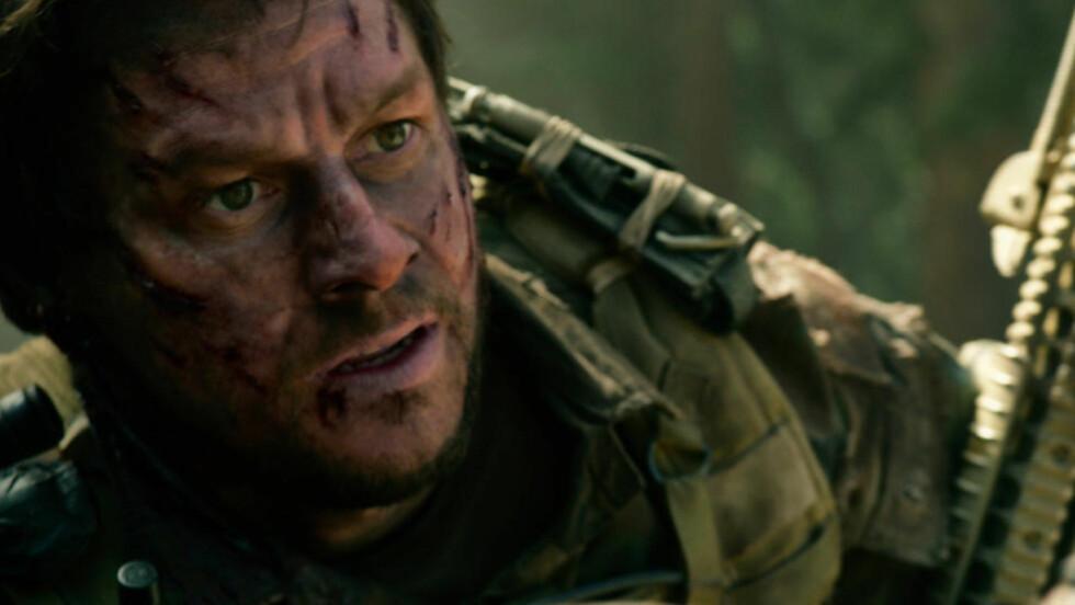 SANN HISTORIE: Mark Wahlberg som Marcus Luttrell, den eneste som overlever i «Lone Survivor».