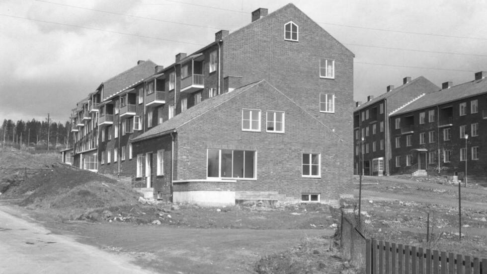 FOR DÅRLIG FOR STALINS SPREKESTE: Studentbyen på Sogn snart ferdig til OL i Oslo i 1952. Foto: NTB arkiv / Scanpix