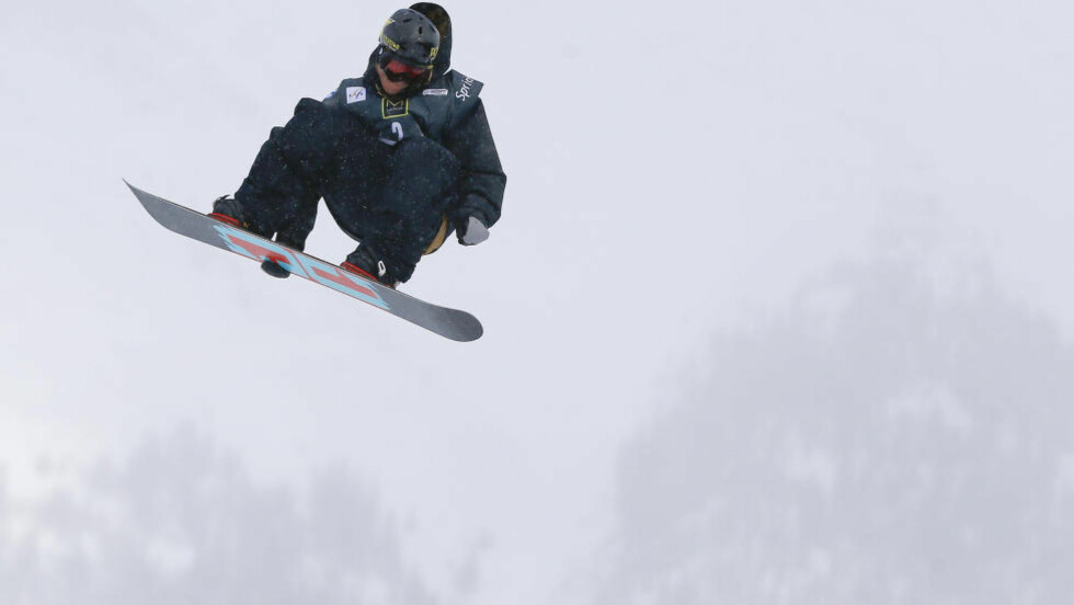 I SLAGET:  Få uker før OL viste Torstein Horgmo seg fram fra sin beste side under X Games. Foto: Julie Jacobson / AP / NTB Scanpix