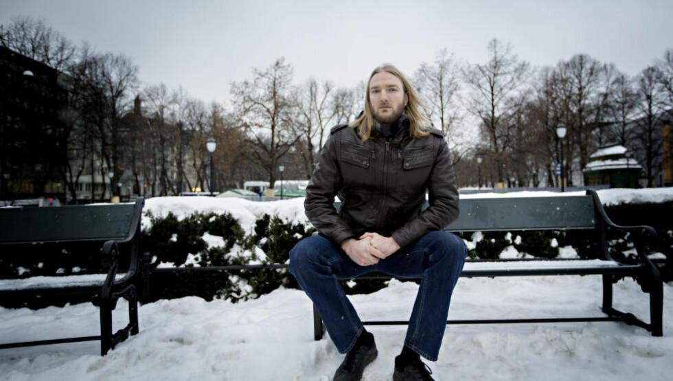 VIL AVSLØRE FYRET.NU: Joakim Møllersen i Radikal Portal har lagt mange arbeidstimer i arbeidet med å avsløre Fyret.nu som nazistside. Foto: Anita Arntzen / Dagbladet
