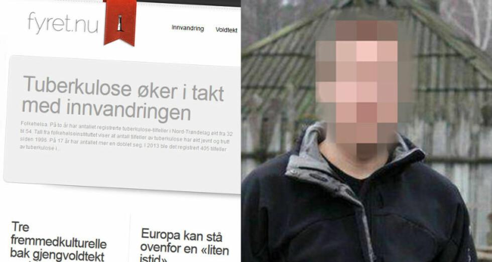 SAMME NAVN: Den svenske IT-konsulenten og profilerte høyreekstremisten nekter for å eie domenet Fyret.nu. Men domenet er registrert på samme navn som hans. Faksimile: Fyret.nu